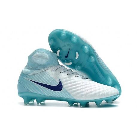 Nouvelles Nike Magista Obra 2 FG Crampons de Football Blanc Bleu