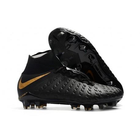Crampons de Football Nike Hypervenom Phantom III DF FG - pour Hommes Noir Or Vif
