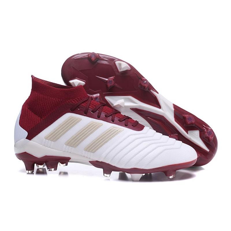 crampons foot 2018 adidas predator 181 fg blanc rouge