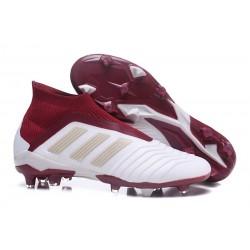 Nouveau Chaussures de Foot Adidas Predator 18+ FG Blanc Rouge