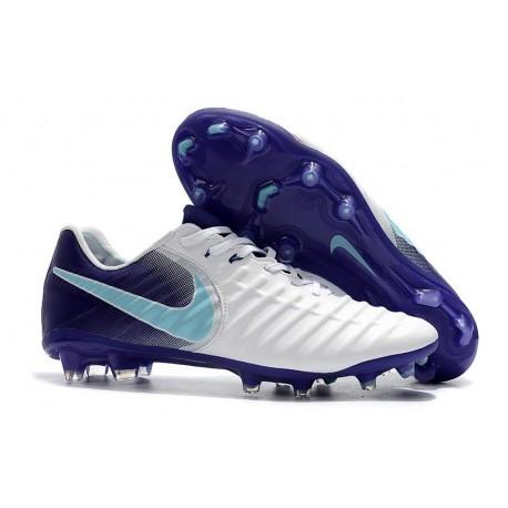Nouvelles Crampons Nike pour Hommes - Tiempo Legend 7 FG Blanc Violet