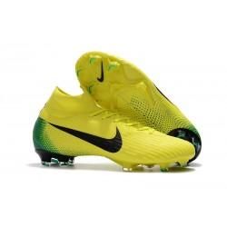Crampons de football Nike Mercurial Superfly VI 360 Elite FG Jaune Noir