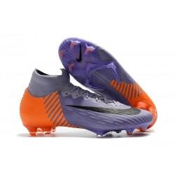 Crampons de football Nike Mercurial Superfly VI 360 Elite FG Violet Orange Noir