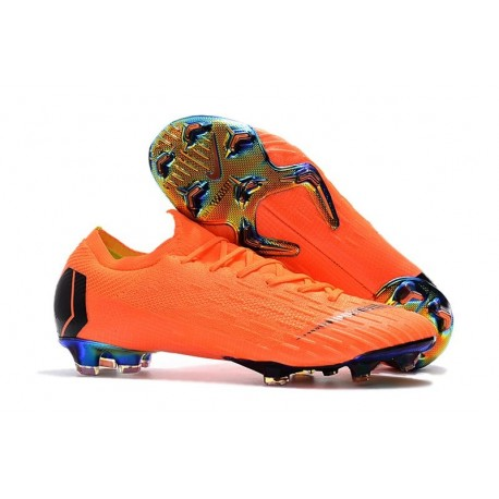 Nike Mercurial Vapor XII Elite FG - Chaussures de Football Hommes Orange Noir