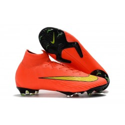 Crampons de football Nike Mercurial Superfly VI 360 Elite FG Orange Jaune