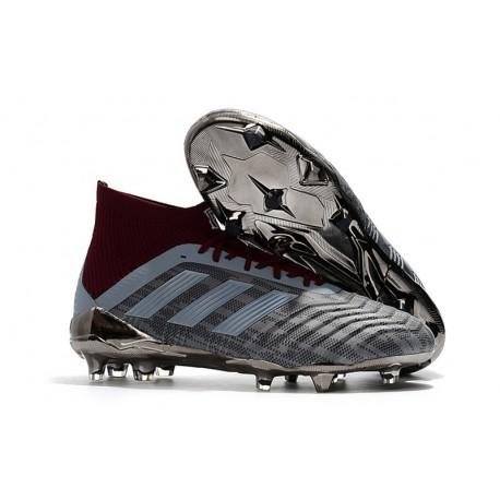 Crampons Foot 2018 - adidas Paul Pogba Predator 18.1 FG Iron Metallic