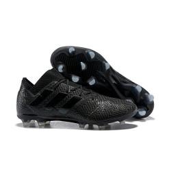 Neuf Chaussures de Football - Adidas Nemeziz Messi 18.1 FG Tout Noir