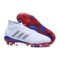 Nouveau Chaussures de Foot Adidas Predator Telstar 18+ FG Argent Rouge Bleu