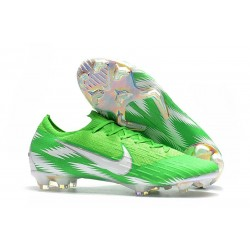 Nike Mercurial Vapor XII Elite FG - Chaussures de Football Hommes Argent Vert