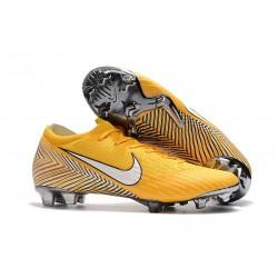 Nike Mercurial Vapor XII Elite FG - Chaussures de Football Hommes Jaune Amarillo Noir Blanc