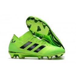 Neuf Chaussures de Football - Adidas Nemeziz Messi 18.1 FG Vert Noir