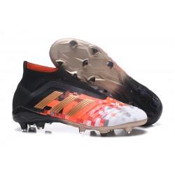 Nouveau Chaussures de Foot Adidas Predator Telstar 18+ FG Noir Cuivre Gris