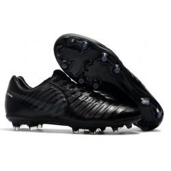 Hommes 2016 Nike Tiempo Legend VI FG Crampons Nike tout Noir