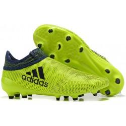 Crampons de Foot adidas X 17+ Purespeed FG Vert Noir
