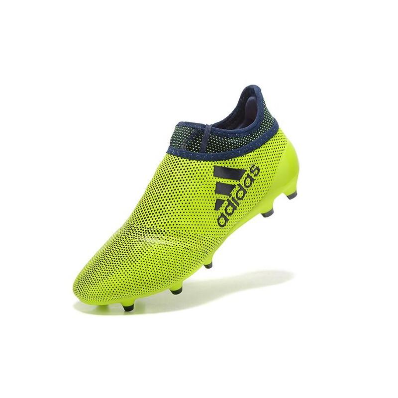 new style e8555 2f06e Crampons de Foot adidas X 17+ Purespeed FG Vert Noir