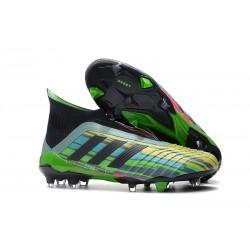 Crampon chaussure de foot Adidas Predator 18+ FG Noir Jaune Vert