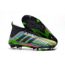 Crampons Foot 2018 - adidas Predator Telstar 18.1 FG Vert Noir et Jaune