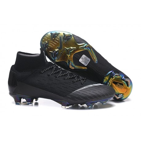 Crampons de football Nike Mercurial Superfly VI 360 Elite FG Or Noir