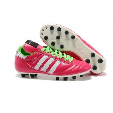 Nouveau Crampons de Foot Adidas Copa Mundial FG Hommes Samba Rose Blanc