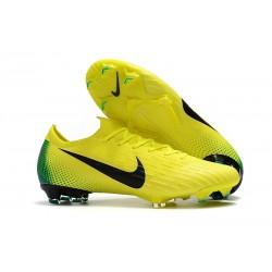 Chaussures de Football Nike Mercurial Vapor 360 XII Elite FG 2018 Jaune Volt Noir