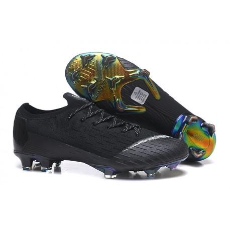 Chaussures de Football CR7 Nike Mercurial Vapor 360 XII Elite FG 2018 Métallisé Blanc Or Bleu