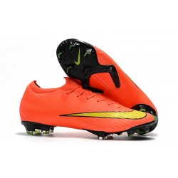 Crampons Foot 2018 Nike Mercurial Vapor 360 XII Elite FG Orange Jaune