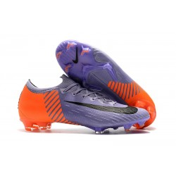 Crampons Foot 2018 Nike Mercurial Vapor 360 XII Elite FG Violet Orange Noir