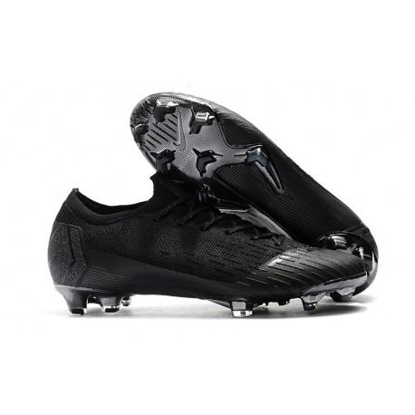 Chaussures de Football Nike Mercurial Vapor 360 XII Elite FG 2018 Noir Argent