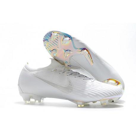 Nike Mercurial Vapor XII Elite FG Chaussures de Foot Pas Cher - Argent Bleu Jaune