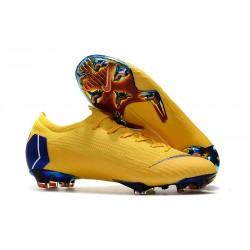 Nike Mercurial Vapor XII Elite FG - Chaussures de Football Hommes Jaune Bleu