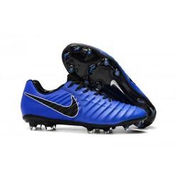 Nike Tiempo Legend 7 FG - Nouveau Chaussures Football Bleu Noir