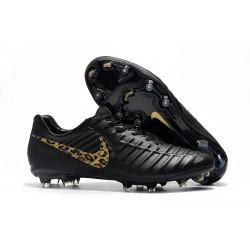 Nike Tiempo Legend 7 FG - Nouveau Chaussures Football LÉOpard D'or Noir