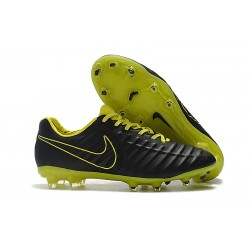 Nike Tiempo Legend 7 FG - Nouveau Chaussures Football Noir Jaune