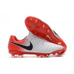 Nike Tiempo Legend 7 FG - Nouveau Chaussures Football Blanc Rouge Noir