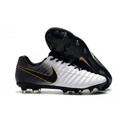 Nike Tiempo Legend 7 FG - Nouveau Chaussures Football Or Blanc Noir