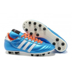 Nouveau Crampons de Foot Adidas Copa Mundial FG Hommes Bleu Blanc
