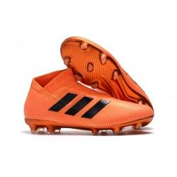 Nouvelles Crampons de Foot adidas Nemeziz 18+ FG - Noir Orange