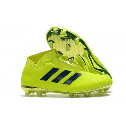 Nouvelles Crampons de Foot adidas Nemeziz 18+ FG - Vert Noir