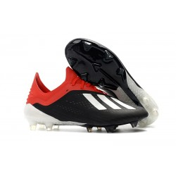 Neuf - Crampons de football Homes Adidas X 18.1 FG - Noir Blanc Rouge