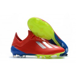 Neuf - Crampons de football Homes Adidas X 18.1 FG - Argent Rouge