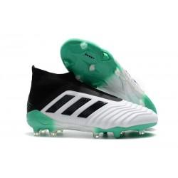 Nouveau Chaussures de Foot Adidas Predator 18+ FG Blanc Vert