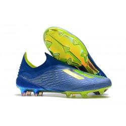 Nouvelles - Chaussures Football adidas X 18+ FG - Bleu Jaune Noir