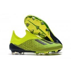 Nouvelles - Chaussures Football adidas X 18+ FG - Jaune Noir
